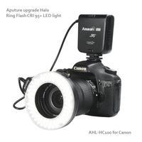 New arrival!! Aputure H100 CRI 95+ Halo micro led light macro ring flash for dslr camera