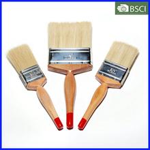 Wooden Handle White Bristle Paint Brush