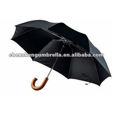 curve handle black 2 folded umbrella