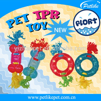 Wholesale China New Dog Products Transparent TPR Dog Toys