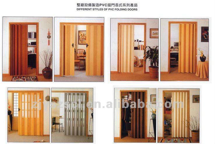 De pl stico de acorde n puerta plegable puerta - Puertas acordeon madera ...