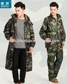 Fábrica OEM militar do exército chuva terno capa de chuva engrenagem do exército traje de camuflagem impermeável respirável baratos chuva terno