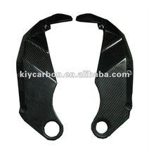 Carbon fiber frame cover for Kawasaki motor