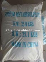 Industriais utilizados de sódio metabisulfite