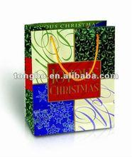 Custom colorful printing christmas tree paper bag
