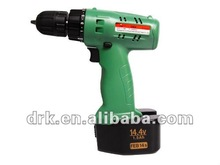 Cordless 14.4V Drill Screw Driver Two Batteries