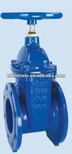 DIN3352 F4 Non-rising stem solid wedge gate valve