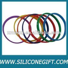 fashion thin silicone wristband, silicone link bracelet
