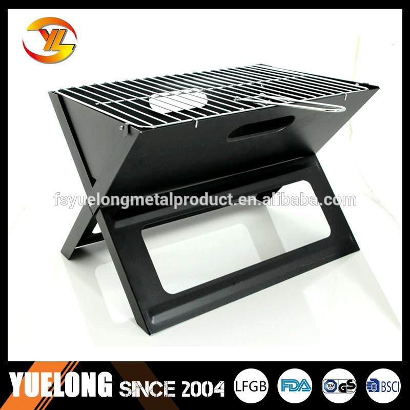 notebook charcoal bbq grill for camping x shape. Black Bedroom Furniture Sets. Home Design Ideas