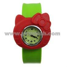 Kitty hello silicon slap watches for children kid watch