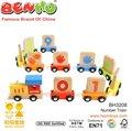 juguetes educativos de madera número alfabeto tren tren de madera