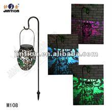 metal solar lantern /iron solar lantern M108