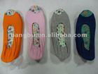multiple colored fish mouth foldable dance ballet shoe