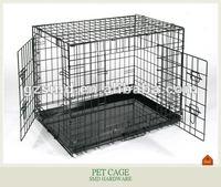 Powder coated iron wire folding dog cage