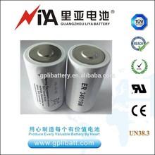 battery ER34615m 3.6v 14000mAh lithium thionyl chloride battery