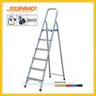 Household retractable safety steel folding step herringbone stair ladder