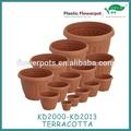 plástico vaso de flores de plástico venda quente pote jardim kd2000 série