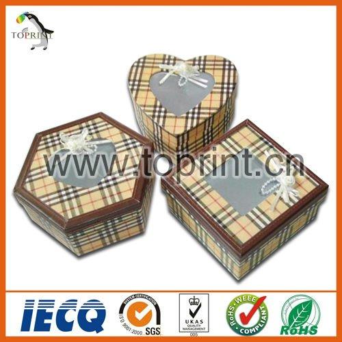Polígono elegante patrón de cuadrícula de regalo cajas de fabricantes, los proveedores, los exportadores, venta al por mayor cajas de regalo