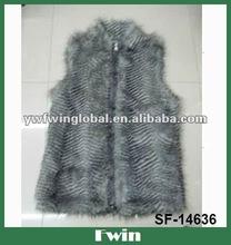 Lady's Flock artificial animal hair Faux fur vest