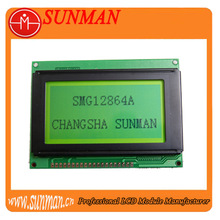 128*64 dots graphic lcd with 4.8~5.2V Operating voltage