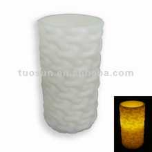 white fancy scented electric fireless pillar led candles