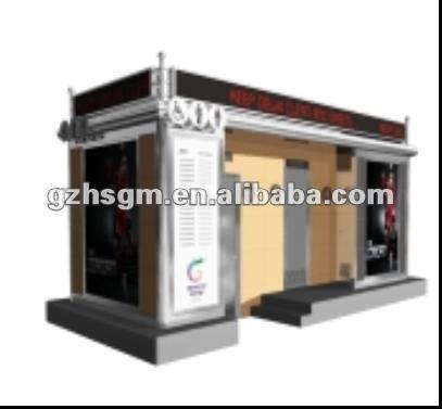prefab coffee kiosk booth design/prefab kiosk house design, View