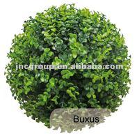 Plastic artificial grass ball, decorative buxus ball