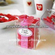 Mini Acrylic Favor Cute Box or Candy Holder or birthday favors display racks or import acrylic gift box