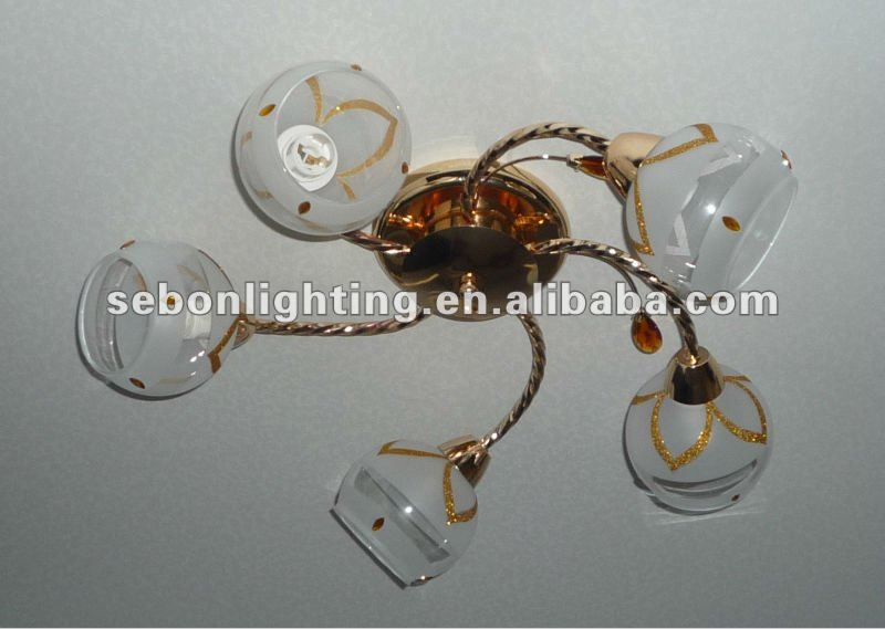 e14 Newest and hot Glass Chandelier Ceiling Lamp/iron and glass mordern ceiling light/indoor light/indoor lighting (MS3185-5)