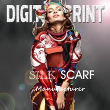 custom silk scarf digital print Service Z17