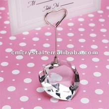 collection heart design crystal place card holder for wedding