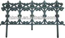 Decorative plastic fence for garden