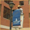 light pole lamppost/lamp post sign mounte for pole banner