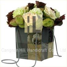 plastic flower gift shopping bags
