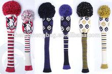 Cute knitted golf head cover