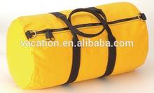 yellow plain china travel bag