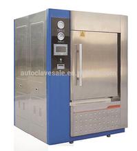Horizontal pulse vacuum double door autoclave