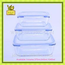 6 Pieces Rectangular High borosilicate glass vacuum food storage container