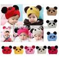 Moda inverno cappello, bambini cappello, panda cappello di maglia