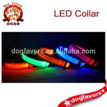 Led collars for dog and cat. Safety led dog collars, LED dog leashes