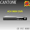 Factory price H.264 4CH 960H DVR HDMI output CCTV DVR