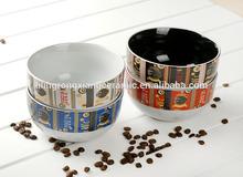 "Hot Sale High quality colour glaze 5.5""ceramic bowl w/handprinting wholesale"