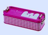 Two layer Special design metal tin pencil case,tin pencil box for kids