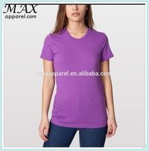 FashionZone O-neck pure color slim fit Organic Fine Jersey Short Sleeves china wholesale tshirt style women clothing