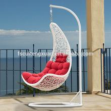 Simple modern style multicolor PE rattan garden swing chair,outdoor swing hanging chair (N315-BBJ)