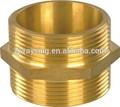 Brass hex nipple doble para hombre 100psi de trabajo max alta calidad ee.uu. tipo de la manguera de fuego acoplamientos camlock