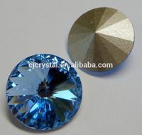 shining plating color natural crystal stone design for dress