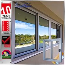 Australia standard AS2047 | fashion black sound proof | aluminum frame sliding glass window