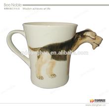 wholesale hot sale high quality ceramic dog embossed 3D mug