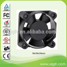 Small Plastic Fan 30*30*10mm 30mm DC Brushless Cooling Fan